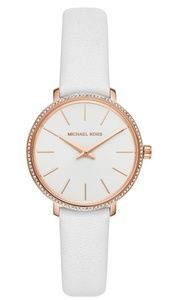 Women's Mini Pyper White Leather Strap Watch 32mm